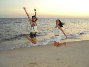 eu e kenia pulando